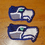 *****     Digital Crochet Pattern     *****     Seahawk Inspired Applique