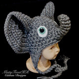 Ellie the Elephant Crochet Ear Flap Hat