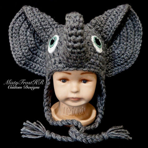 *****     Digital Crochet Pattern     *****     Ellie the Elephant Hat