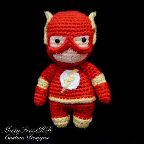 "*****     Digital Crochet Pattern     *****     Flash 6-7"" Plush Doll"