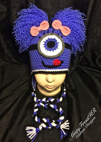 One Eyed Monster Crochet Earflap Hat