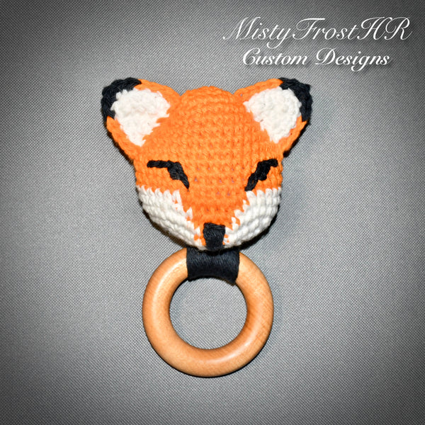 *****   Digital Crochet Pattern   *****   Kajika the Fox Teething Ring