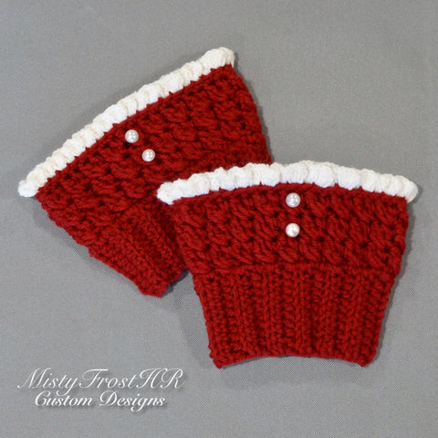 *****     Digital Crochet Pattern     *****     Ruffle Boot Cuffs