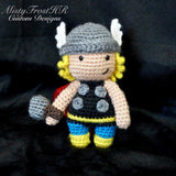 "*****     Digital Crochet Pattern     *****     Thor 6-7"" Plush Doll"