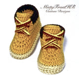 *****     Digital Crochet Pattern     *****    Workin' Baby Construction Boots