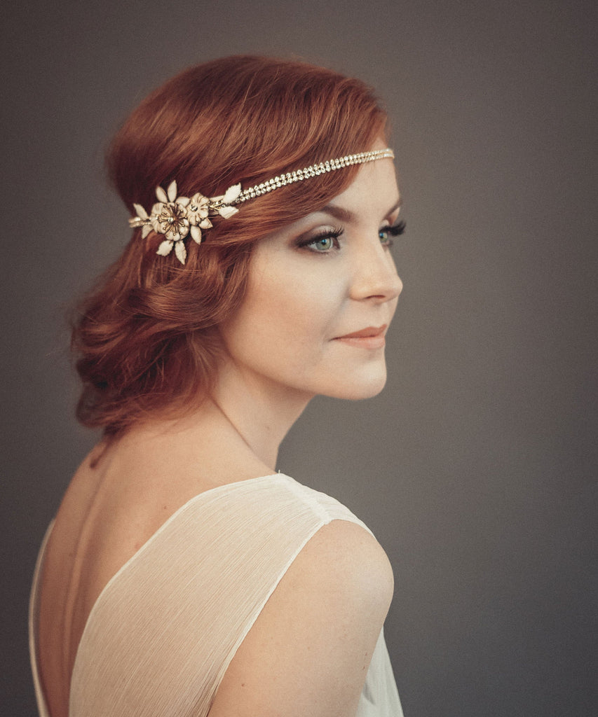 1920s wedding headpiece - floraljewellery