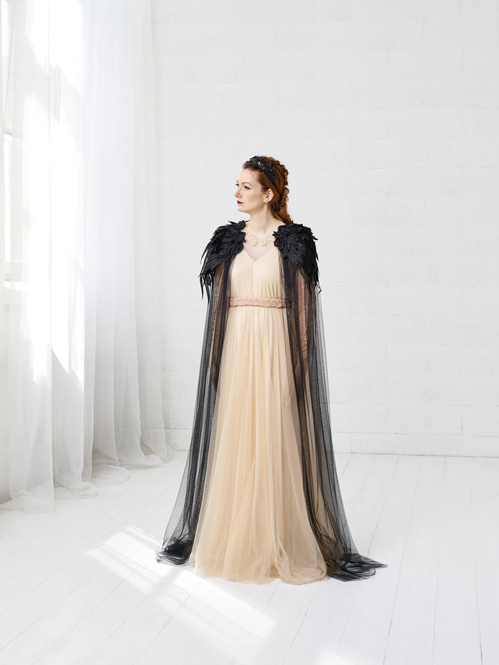 black wedding cloak