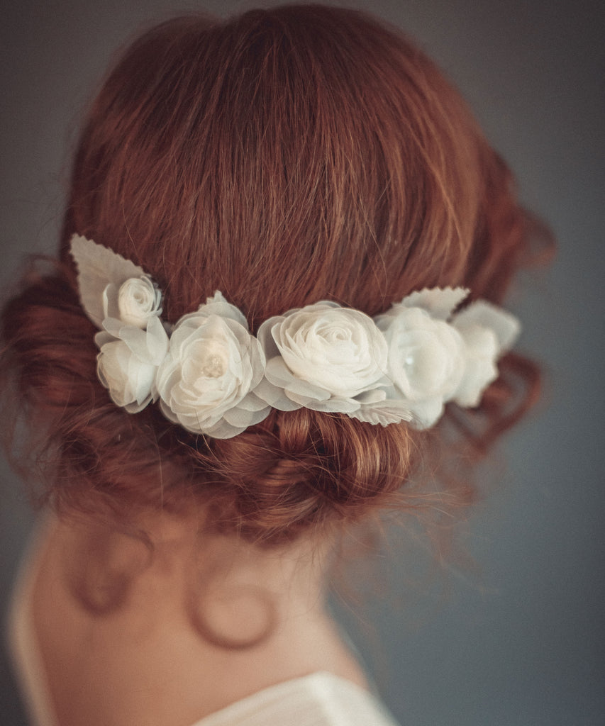 Bridal floral headpiece
