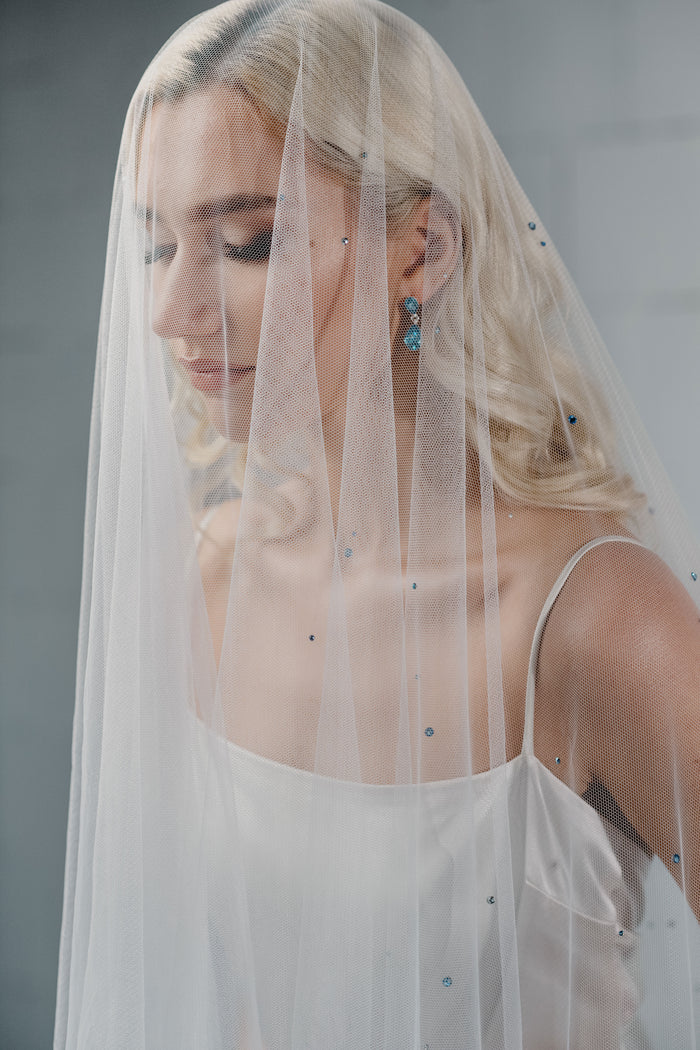 crystal drop veil RAIN by floraljewellery