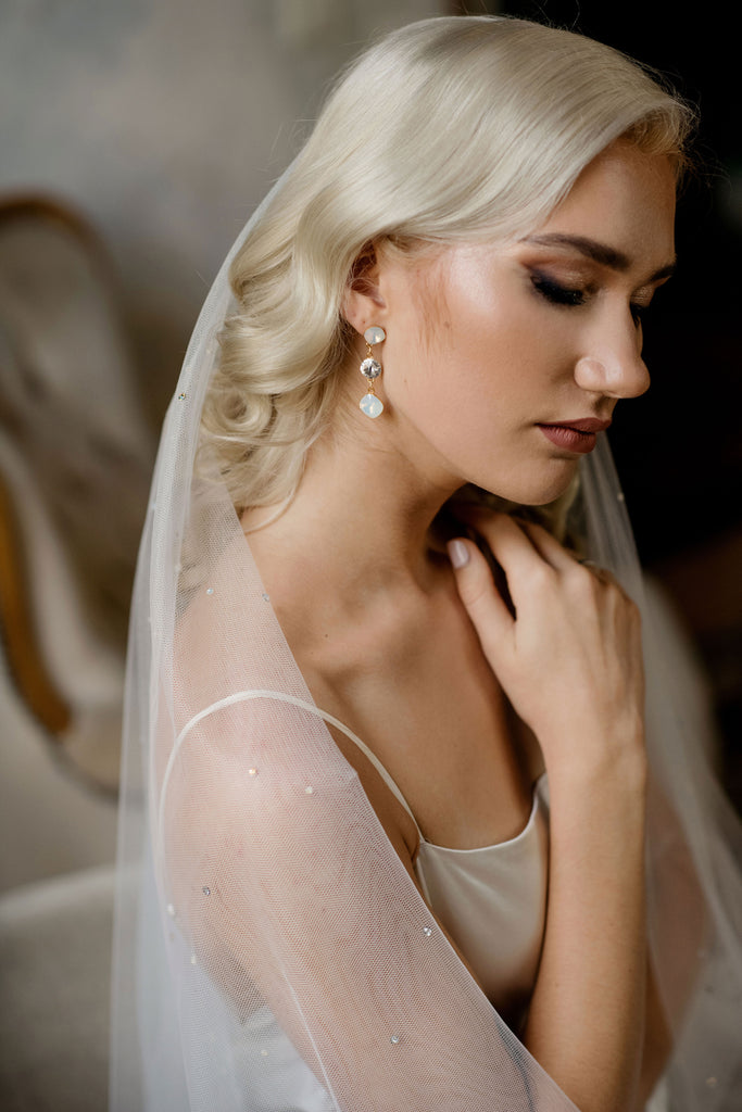 Bridal opal earrings - INVERNO