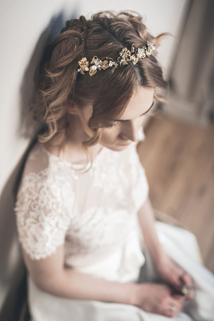 Gold floral crown