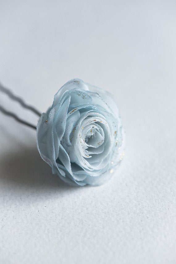 rose flower hair clip in custom color
