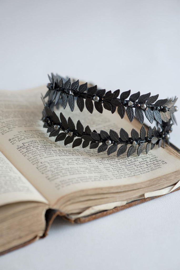 black leaf tiara