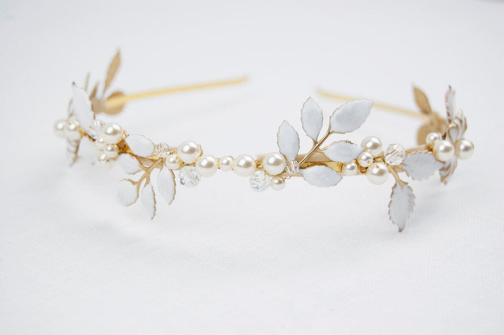 Bridal leaf headpiece - floraljewellery