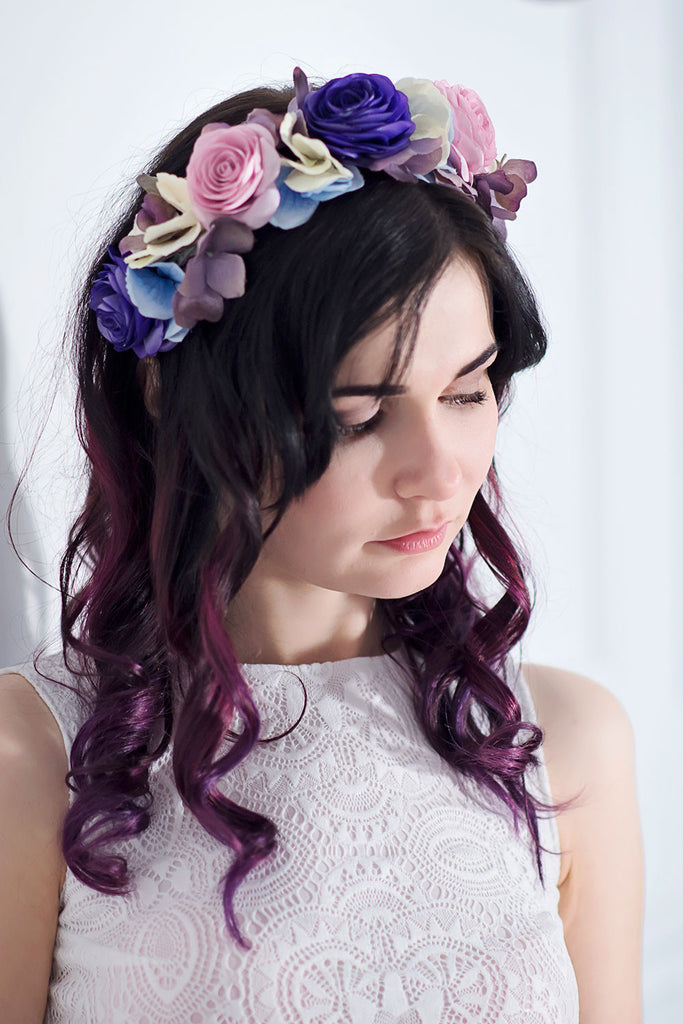 Wedding flower crown - floraljewellery
