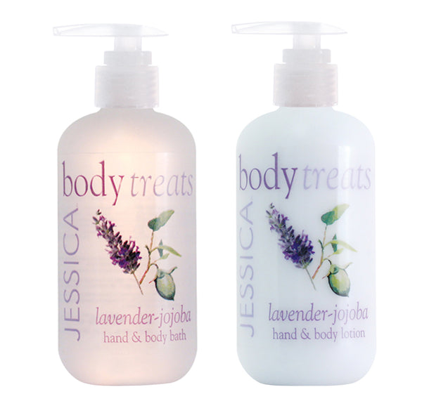 Lavender-Jojoba Hand & Body Lotion + Bath