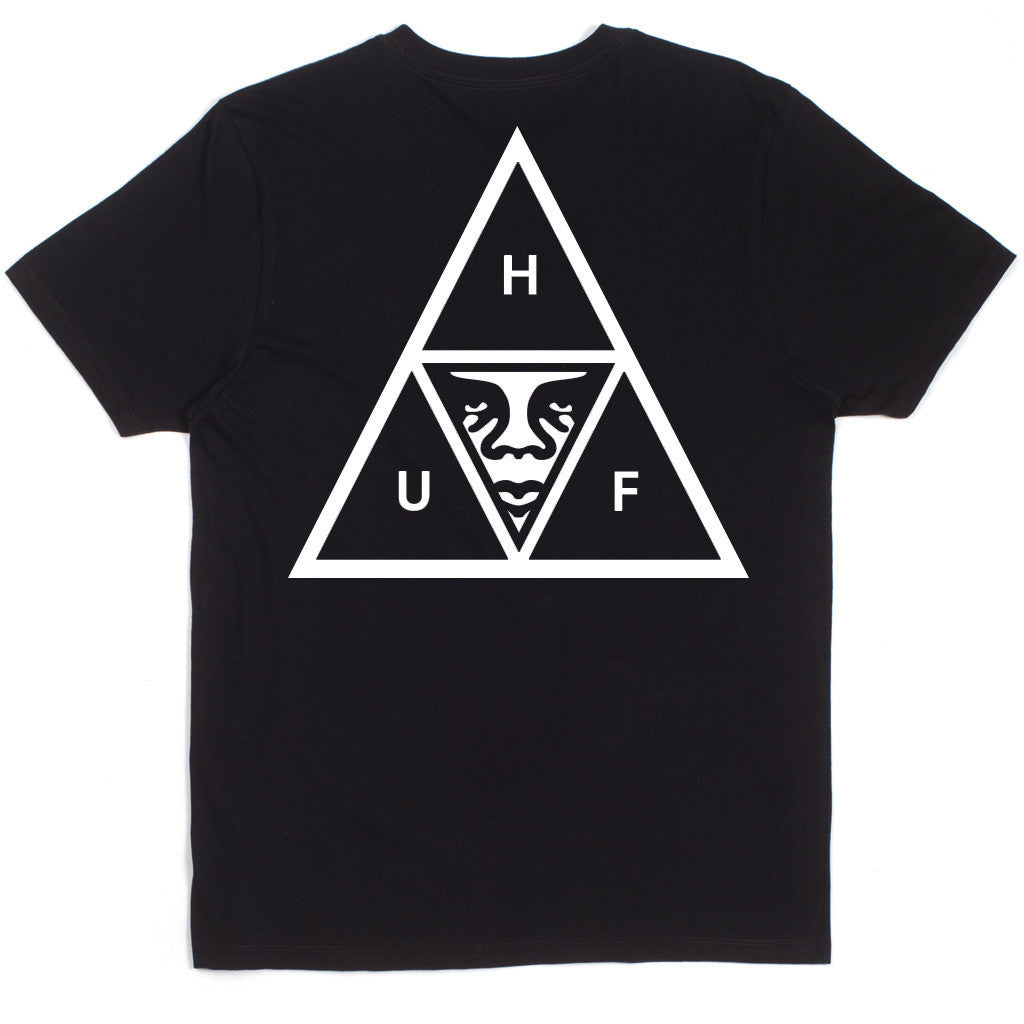 HUF X OBEY Triple Triangle Pocket T-Shirt