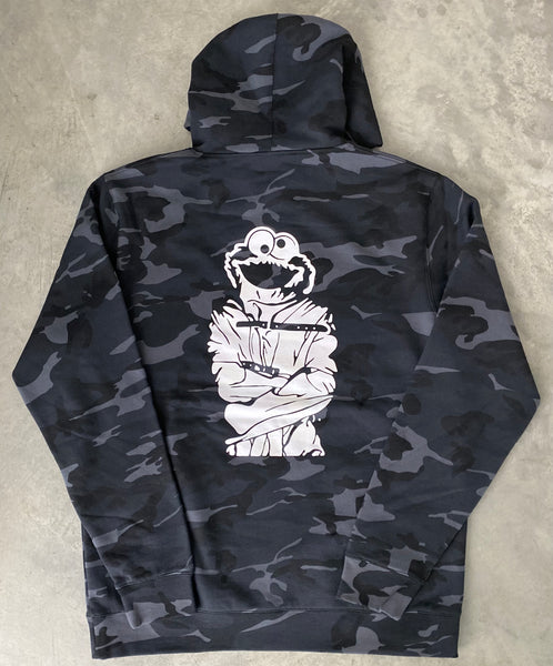 SPACEHOBO Crumbled Cookie Blk Camo Hoodie