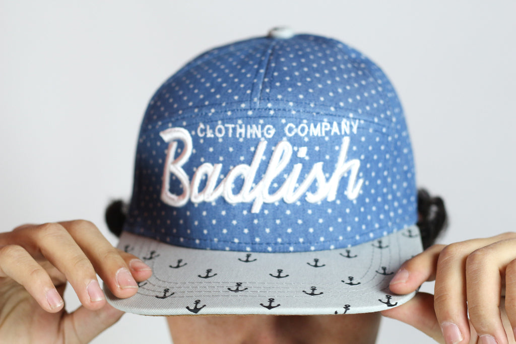 Badfish Script-Anchor Brim Hat