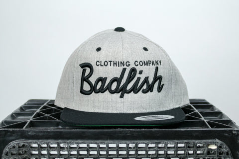 Badfish Script Hat-6 panel snap