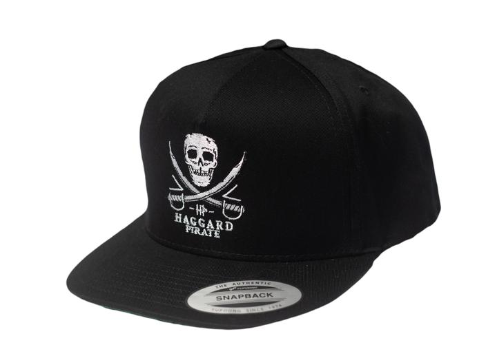 Haggard Pirate Skull and Sword Snapback