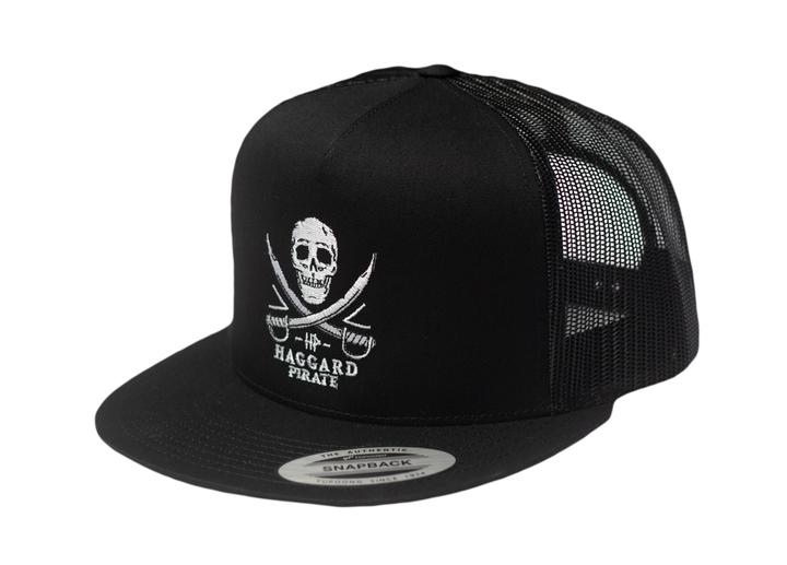 Haggard Pirate Skull and Swords Trucker Hat