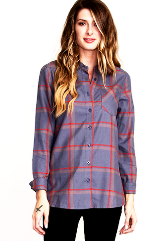RVCA Burnt Out Womens Button Shirt
