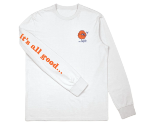 BRIXTON ALL GOOD L/S STANDARD TEE Baby Blue
