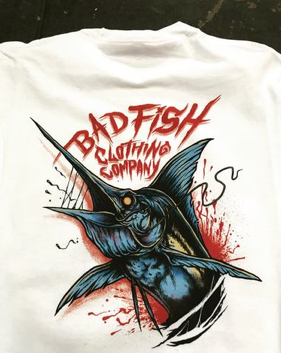Badfish LIQUID SWORD - Premium Tee (They're Biting)