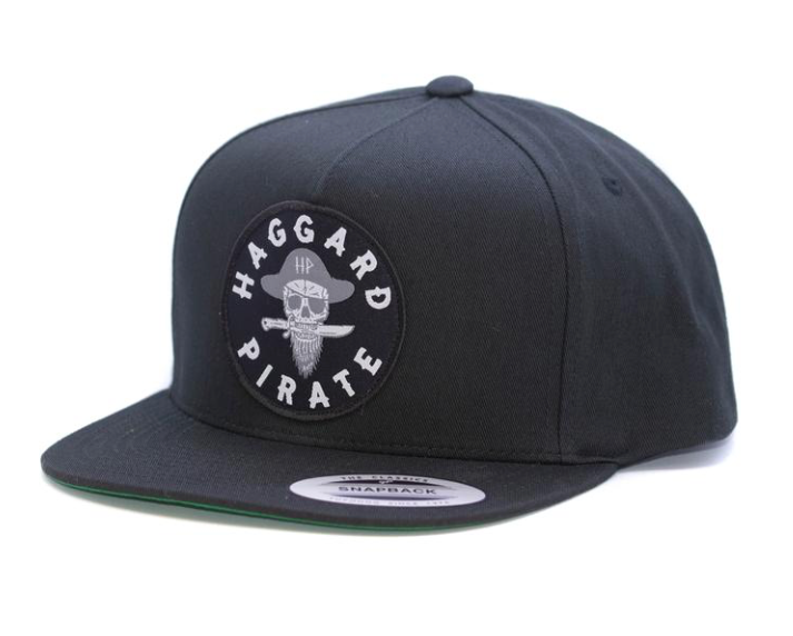 Haggard Pirate Branded Black Snap