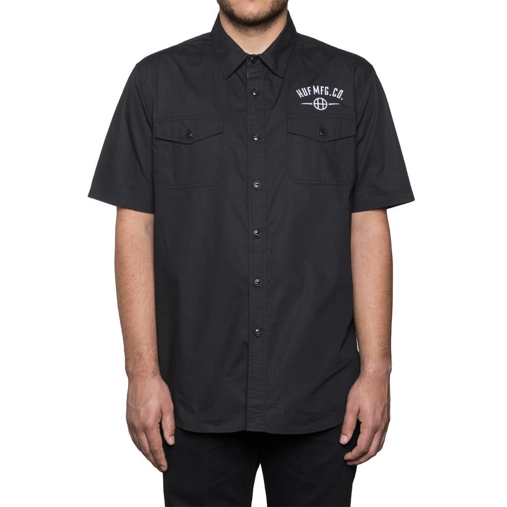 HUF MFG STATION S/S WORK SHIRT // BLACK