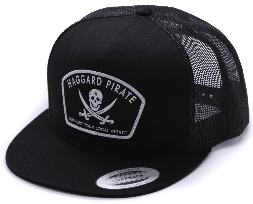 Haggard Pirate Jolly Roger Trucker