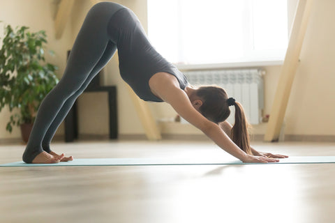 downward dog facing yoga pose stretch