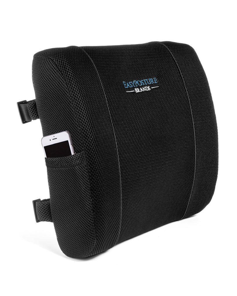Easy Posture Lumbar Support Back Cushion w/Double Elastic Straps