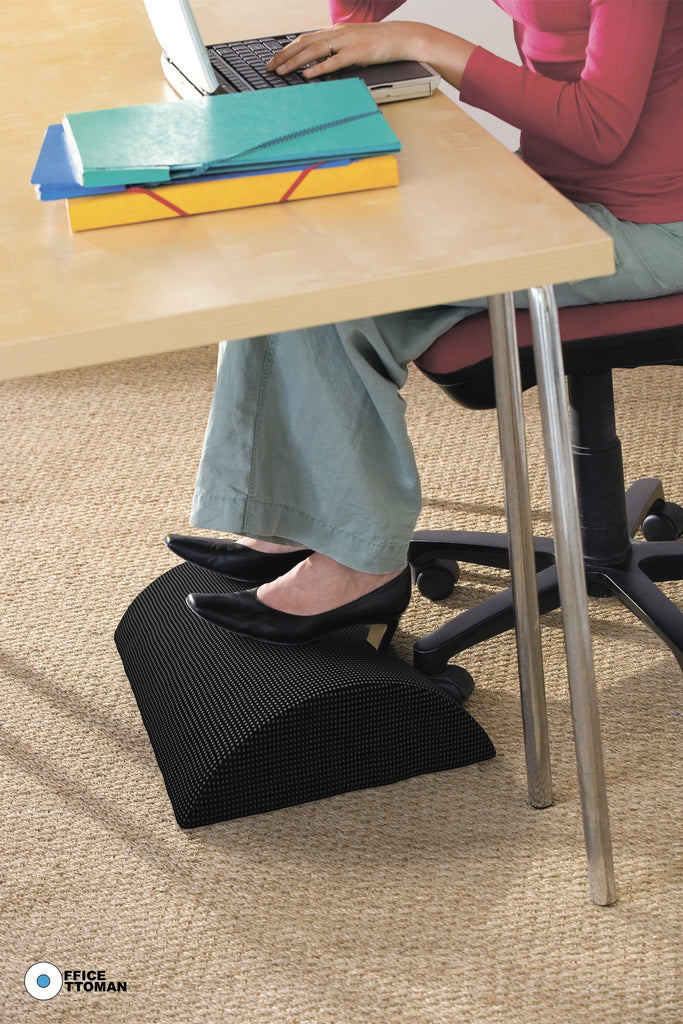 Office Ottoman Foot Rest Under Desk Non-Slip Foam Cushion