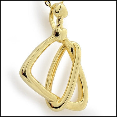 PRODORI Two Souls Designer Pendant - 14K Yellow Gold Over Sterling Silver - 18 Inches