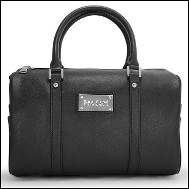 PRODORI Black Luxury Leather Handbag - Style Bowling