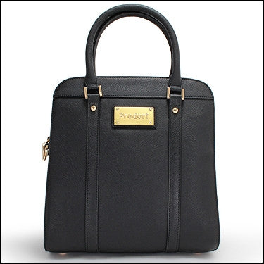 PRODORI Black Luxury Leather Handbag - Satchel