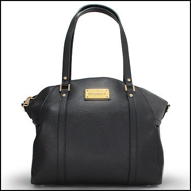 PRODORI Black Luxury Leather Handbag - Oversized