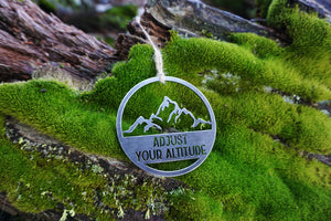 Adjust Your Altitude Mountain Ornament