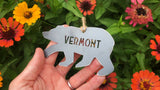 Vermont Bear Metal Ornament