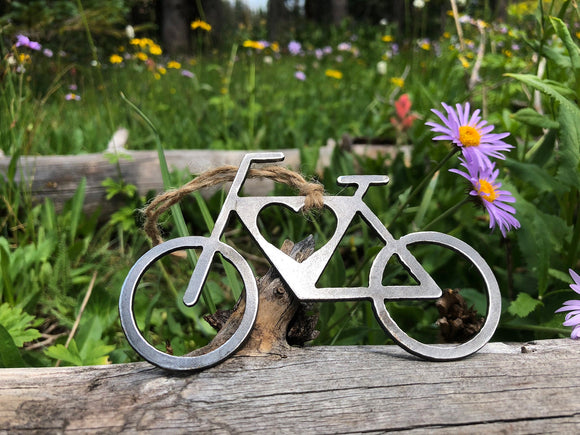 Bicycle Ornament with Heart