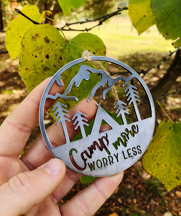Camp More, Worry Less Ornament