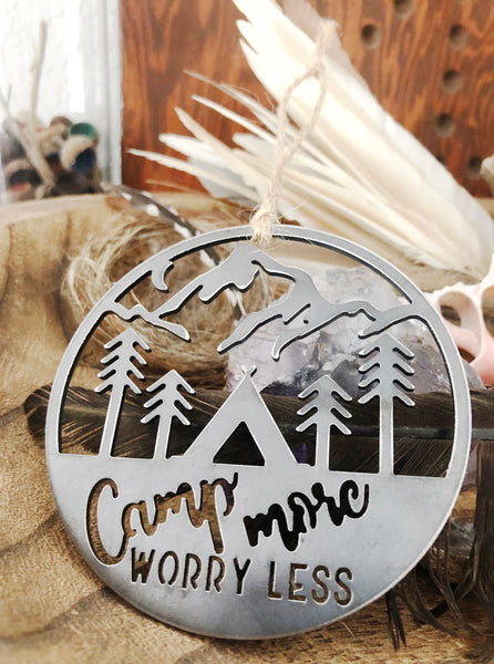 Camp More Worry Less Rustic Ornament