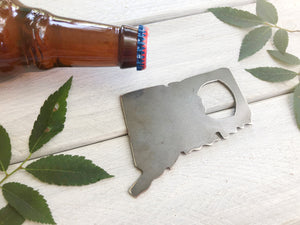 Connecticut State Metal Bottle Opener
