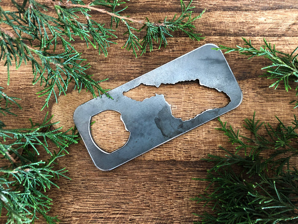 Catalina Island Rustic Raw Steel Bottle Opener