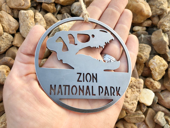 Zion National Park Dinosaur Skull Ornament
