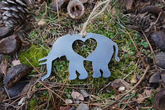 Elephant Ornament made from Raw Steel