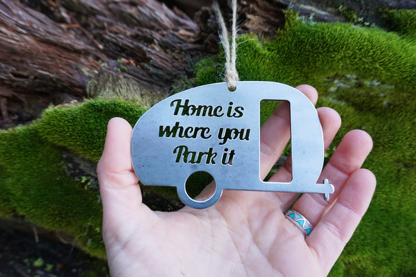 Home is where you park it Camper Ornament