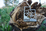 Utah State Mountain Biking Metal Ornament